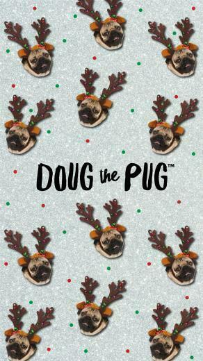 FREE Doug the Pug Christmas Wallpapers   ClairesBlog