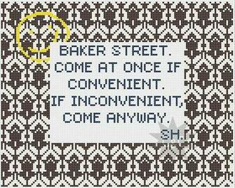 Sherlock quote with wallpaper pattern border by CapesAndCrafts 230