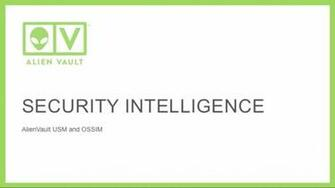 Security Intelligence with AlienVault