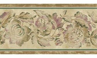 Home Brown Flower Wallpaper Border