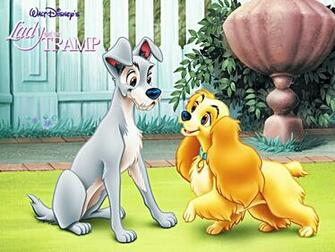 Walt Disney Characters Walt Disney Wallpapers   Lady and the Tramp