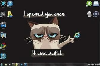 Funny Grumpy cat vs Internet Explorerjpg