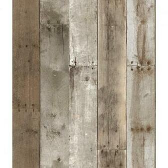 Wall Decor \ Wallpaper \ Repurposed Wood Weathered Removable Wallpaper