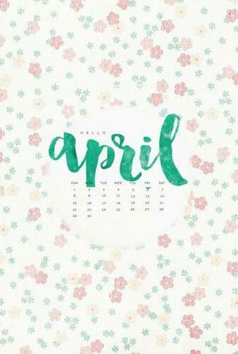 Hello April 2018 iPhone Floral Calendar iPhone wallpapers