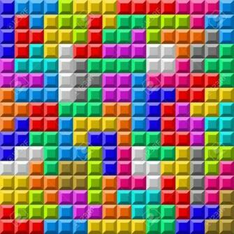 Illustration Of Colorful Tetris Board Background Royalty