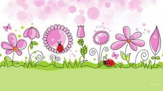 Flower Garden Spring Vector Desktop Background wallpaper