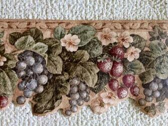 Kitchen Wallpaper Border Tuscan Fruit eBay