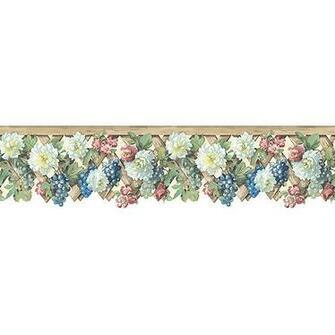 FloralGrape Trellis Die Cut Wallpaper Border   Walmartcom