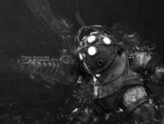 Drill Attack   Bioshock Wallpaper