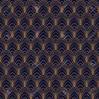 Luxury Background Vector Scale Art Deco Pattern Seamless Feather