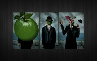 rene magritte son of man 1920x1200 wallpaper High Resolution Wallpaper