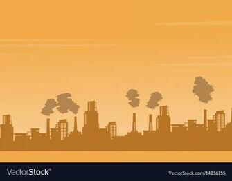 Silhouette industry pollution background Vector Image