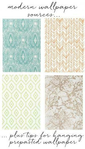 modern wallpaper sources tips for hanging prepasted wallpaper   Home
