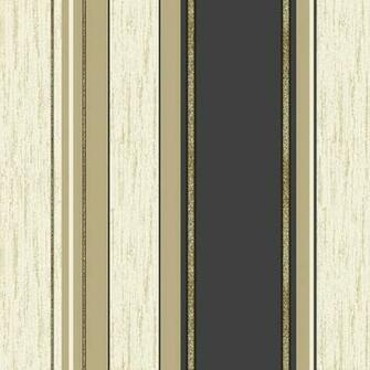 Vymura Synergy Glitter Stripe Wallpaper in Black and Gold   M0909