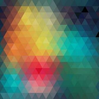 Colorful triangles arranged in decorative abstract background in the