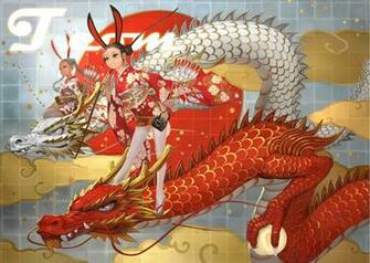 Red Japanese Dragon Wallpaper Dragons kimono wallpaper