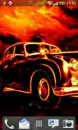 Fire Cars Live Wallpaper for android Fire Cars Live Wallpaper