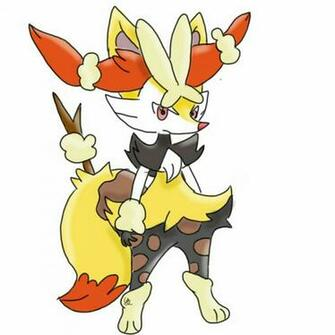 Braixen and Mega Loppuny Fusion by Grenplayspokemon on