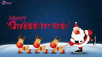 happy new year Christmas Wishes and Greetings Wallpapers with Santa