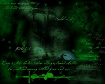 Green Gothic Dream Wallpapers Pictures Photos and Backgrounds