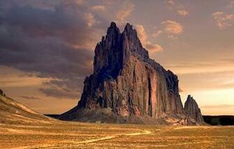 Wallpaper shiprock peak new mexico desert rock formation wallpapers