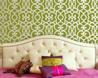 Wallpaper Wednesday Etsy Wall StencilsTheres No Place Like Home