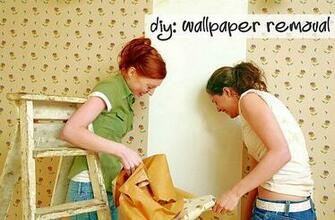 diy wallpaper removal DIY Wallpapering Out with the Old In with the