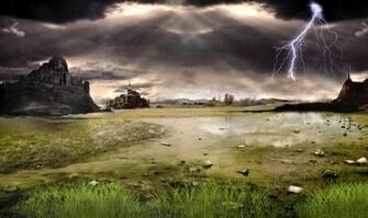 Thunderstorm Field Animated Wallpaper full Windows 7 screenshot