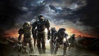 Download Wallpaper 3840x2160 halo soldiers sky clouds mountains 4K
