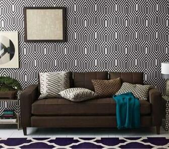 Modern Black and White Geometric Wallpaper