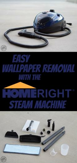 Easy Wallpaper Removal With the HomeRight SteamMachine   The DIY
