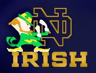 Notre Dame Logo Wallpaper httppsychoticemodeviantartcomartNotre