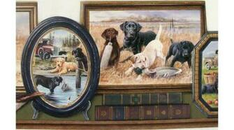 Home Hunting Dogs Wallpaper Border