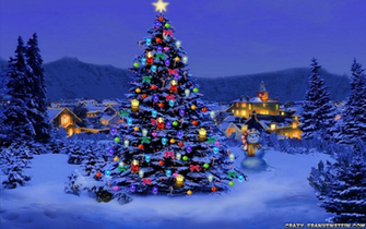 Beautiful Christmas Tree Desktop Wallpaper