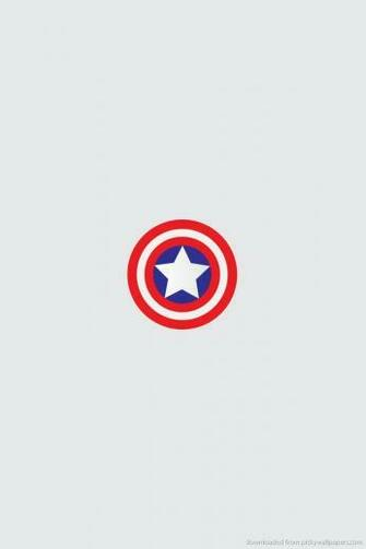 Download Minimal Captain America Shield Wallpaper For Iphone 4 picture