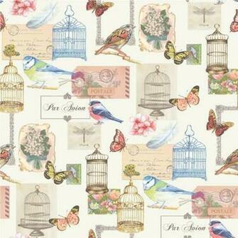 Wallpaper Muriva Muriva Birdcage Motif Wallpaper J51112