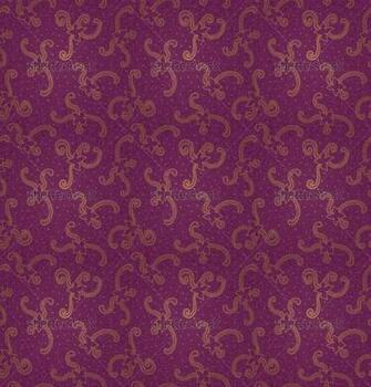 Ornate floral seamless texture Violet brocade pattern Persian style