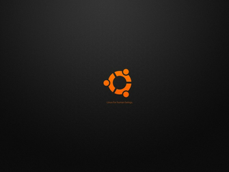 Ubuntu HD Wallpaper   Ubuntu black Wallpaper 1600x
