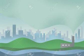 Digital Art Illustrator BackgroundToxic Air Pollution From