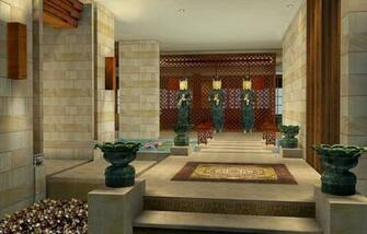 spa entrance decoration design european style spa interior design