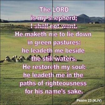 Psalms 23 King James Version Psalm 23 king james