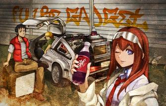 Steins Gate Anime Okabe Rintarou Makise Kurisu 2814076png 1500