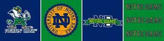 Notre Dame Fighting Irish 6 Tall Wallpaper Border