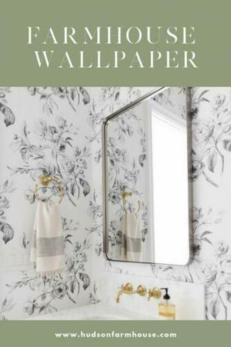 Modern Farmhouse Wallpaper thats Budget Friendly