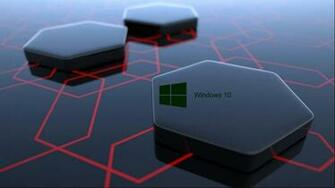 Windows 10 Desktop Image with 3d Art Black Hexagonal Wallpapers HD