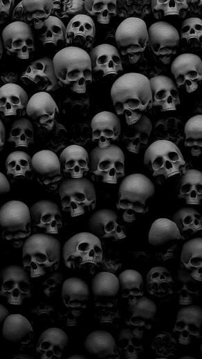 SAY WHAT by Linda Applin Black skulls wallpaper Skull