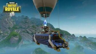 Fortnite Battle Bus Hot Air Balloon Appears Ready for E3 Dexertocom