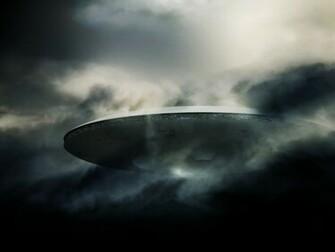 Spaceship Clouds ufo alien aliens spaceships wallpaper background