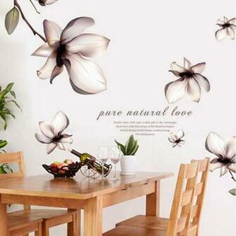 Removable Wall Decal Sticker Purple Lilies DIY Wal end 7202016 602
