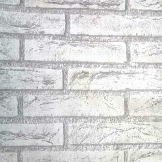 45cm Vintage Grey Brick Peel Stick Wallpaper   Self Adhesive